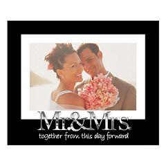 Malden 'Mr. & Mrs.' Expressions 4' x 6' Matted Frame