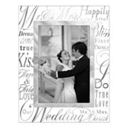 Malden 'Mr. & Mrs.' Glass 4' x 6' Frame