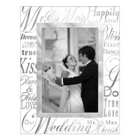 "Malden ""Mr. & Mrs."" Glass 4"" x 6"" Frame"