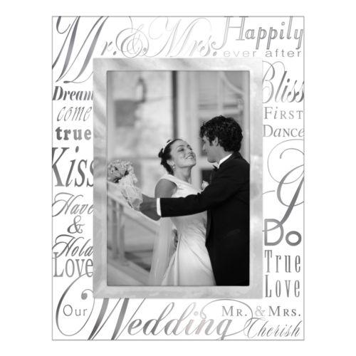 Malden Mr. and Mrs. Glass 4 x 6 Frame