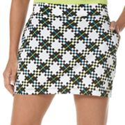 Grand Slam Plaid Roadmap Performance Skort
