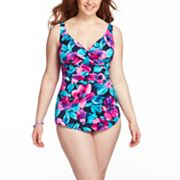 Croft and Barrow Floral Crisscross One-Piece Swimsuit - Women's Plus