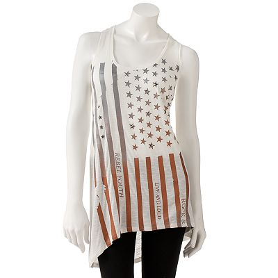 Rock and Republic Stars and Stripes Drop-Tail Hem Tunic