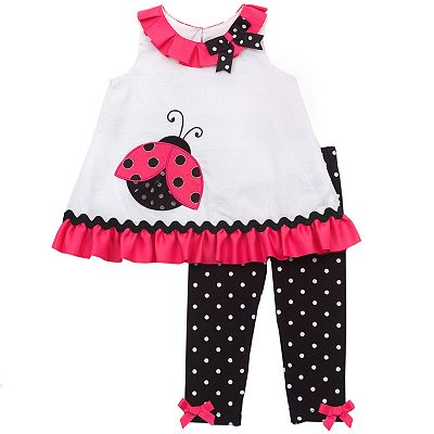 Rare Editions Ladybug and Polka-Dot Top and Leggings Set - Baby