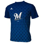 adidas Milwaukee Brewers Diamond Tee - Boys 8-20