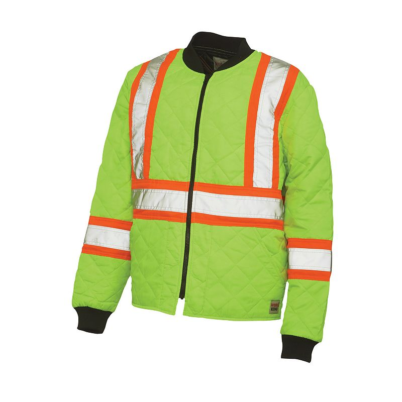 Work King High Visibility Quilted Safety Jacket - Big and Tall