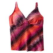Dana Buchman Zigzag Tankini Top - Women's Plus