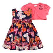 Youngland Butterfly Dress and Cardigan Set - Infant