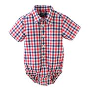 OshKosh B'gosh Plaid Poplin Bodysuit - Baby