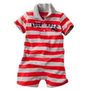 Carter's Striped Captain Adorable Polo Romper - Baby