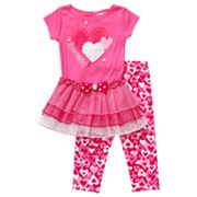 Youngland Sweet Heart Tutu Set - Infant