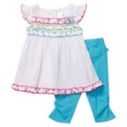 Youngland Gauze Dress and Leggings Set - Infant