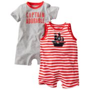 Carter's 2-pk. Captain Adorable Rompers - Baby