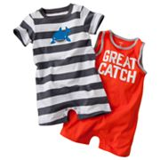 Carter's 2-pk. Shark Rompers - Baby