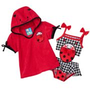 Baby Bunz Ladybug One-Piece Swimsuit and Cover-Up Set - Baby