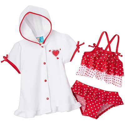 Baby Bunz Heart 3-pc. Tankini Swimsuit Set - Baby