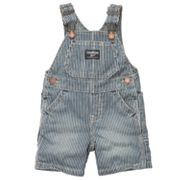 OshKosh B'gosh Striped Denim Shortalls - Baby
