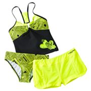 ZeroXposur Zigzag 3-pc. Tankini Swimsuit Set - Girls 7-16