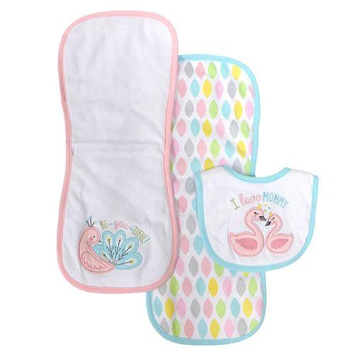 Baby Treasures 3-pc. Bib & Burp Cloth Set