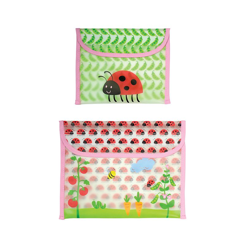 Green Sprouts by i play. 2-pk. Ladybug Reusable Garden Snack Bags