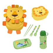 Green Sprouts by i play. Lion On Safari Travel Lunch Set