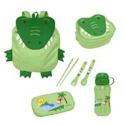 Green Sprouts by i play. Alligator On Safari Travel Lunch Set