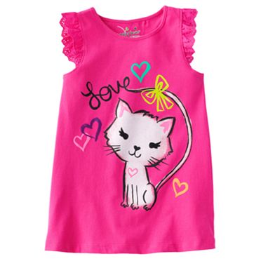 Jumping Beans Kitten Tank - Girls 4-7
