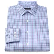 Marc Anthony Slim-Fit Plaid Spread-Collar Dress Shirt