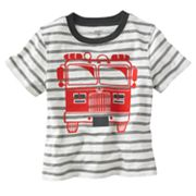 Carter's Striped Fire Truck Tee - Baby