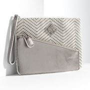Simply Vera Vera Wang Evelyn Chevron Wristlet