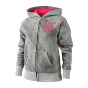 Nike Just Do It Striped Fleece Hoodie - Girls 7-16