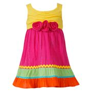 Youngland Colorblock Gauze Sundress - Infant