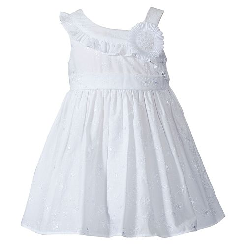 8c3bc1d7b Youngland Floral Embroidered Asymmetrical Dress - Infant