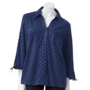 Gloria Vanderbilt Addison Polka-Dot Shirt