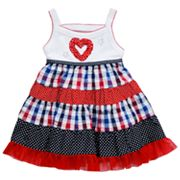Youngland Ruched Heart Sundress - Infant