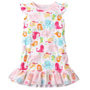 Carter's Mermaid and Sea Creatures Nightgown - Girls
