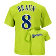 Majestic Milwaukee Brewers Ryan Braun Tee - Men