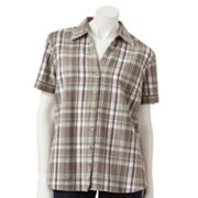 Gloria Vanderbilt Magnolia Plaid Shirt