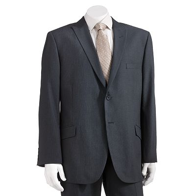 Haggar Micro-Grid Straight-Fit Suit Jacket