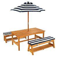 KidKraft Striped Outdoor Table & Bench Set