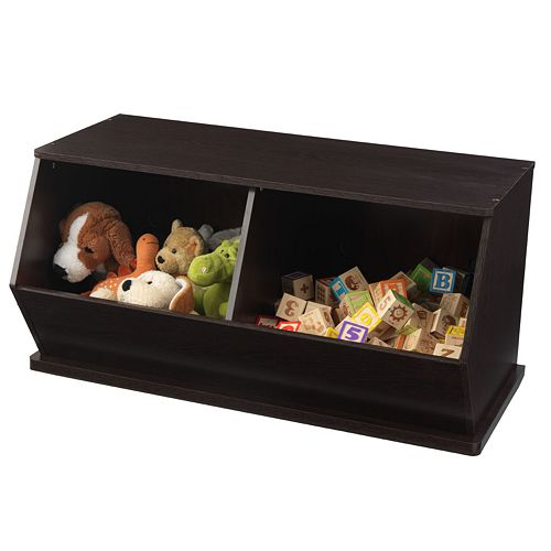 KidKraft Double Storage Unit - Espresso