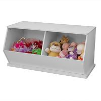 KidKraft Double Storage Unit - White