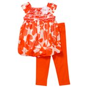 Youngland Floral Sundress and Leggings Set - Toddler