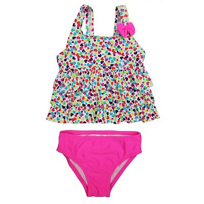 St. Tropez Swimwear Heart 2-pc. Tankini Swimsuit Set - Girls 4-6x