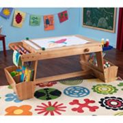 KidKraft Drying Rack and Storage Art Table