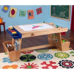 KidKraft Drying Rack and Storage Art Table