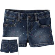 SONOMA life + style Bling Denim Shorts - Girls 4-6x