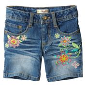 Mudd Floral Denim Shorts - Girls 4-6x