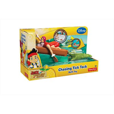 Disney Jake and the Never Land Pirates Chasing Tick Tock Bath Toy by Fisher-Price
