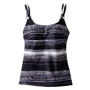 Croft and Barrow Bust Enhancer Watercolor Tankini Top